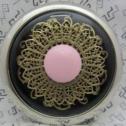 Compact Mirror Cotton Candy Pink