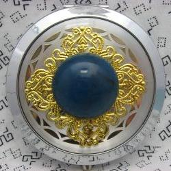 Compact Mirror Silver and Blue