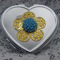 Heart Compact Mirror