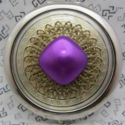 Compact Mirror Purple Blob